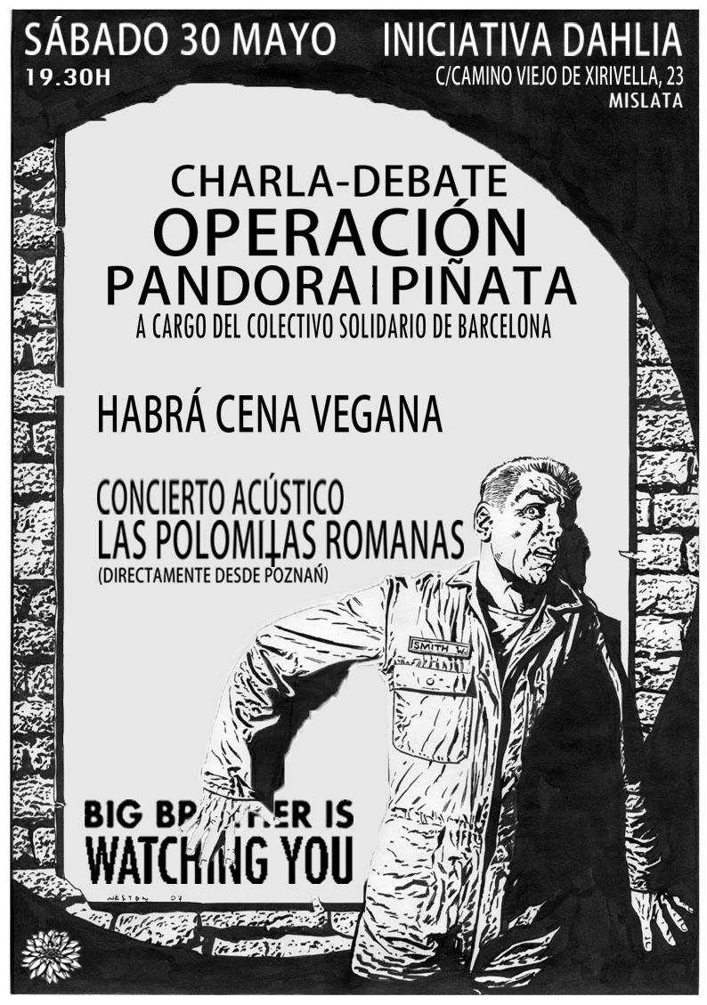 Charla-debate sobre las operaciones Pandora y Piñata